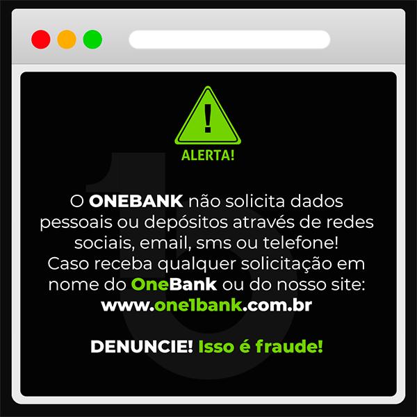 Comunicado One 1 Bank